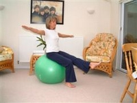 Exercise ball rehabilitation exercises 1