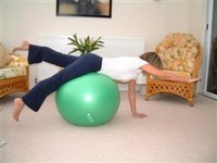 Exercise ball rehabilitation exercises 2