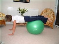 Exercise ball rehabilitation exercises 3