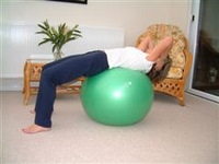 Exercise ball rehabilitation exercises 4