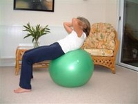 Exercise ball rehabilitation exercises 5