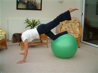 Exercise ball rehabilitation exercises 6