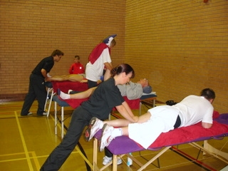 Sports massage and stretching for Lichfield runners after 10k race